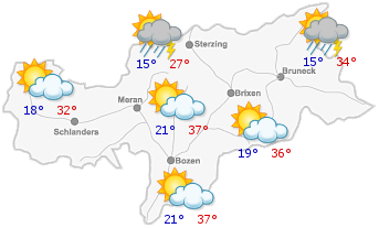 Das Wetter in Südtirol am