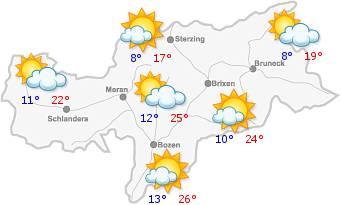 Das Wetter in Südtirol am22.06.2018